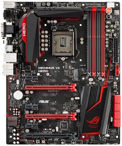Amazon Com Asus Rog Maximus Vii Hero Lga1150 Ddr3 M 2 Sata 6gb S Usb 3 0 Intel Z97 Atx Motherboard Computers Accessories