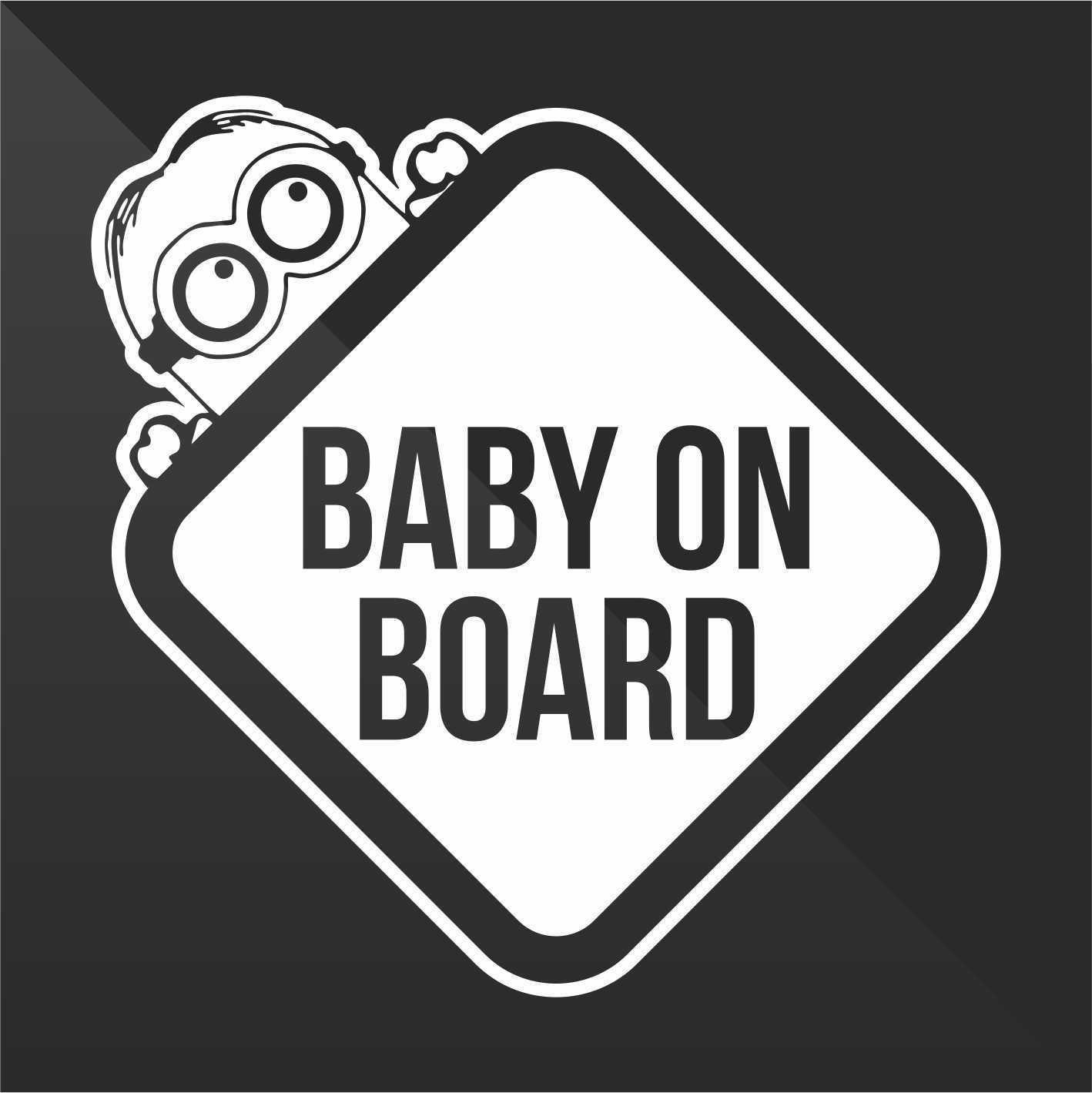 Sticker Bambini a bordo Baby on board bébé à bord bebé a bordo Baby an Bord - Decal Auto Moto Casco Wall Camper Bike Adesivo Adhesive Autocollant Pegatina Aufkleber - cm 10