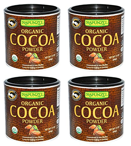 Rapunzel Organic Cocoa Powder, 7.1 oz (201 g) - Pack of 4