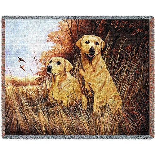 Yellow Lab Tapestry Throw - 3