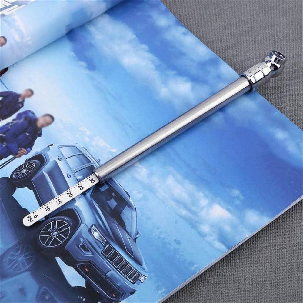 CWWHY Stylo de jauge de Pression dair de Pneu Portable l/éger pour Le testeur Automatique de v/élo de Moto de Camion de Voiture