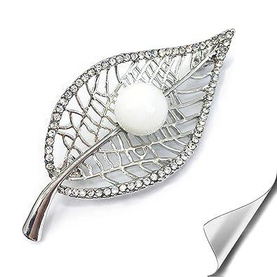 f19cfa85552f SIYWINA Broche Mujer Perla Broches de bisuteria Broches Plata Broche de  Hojas  Amazon.es  Joyería