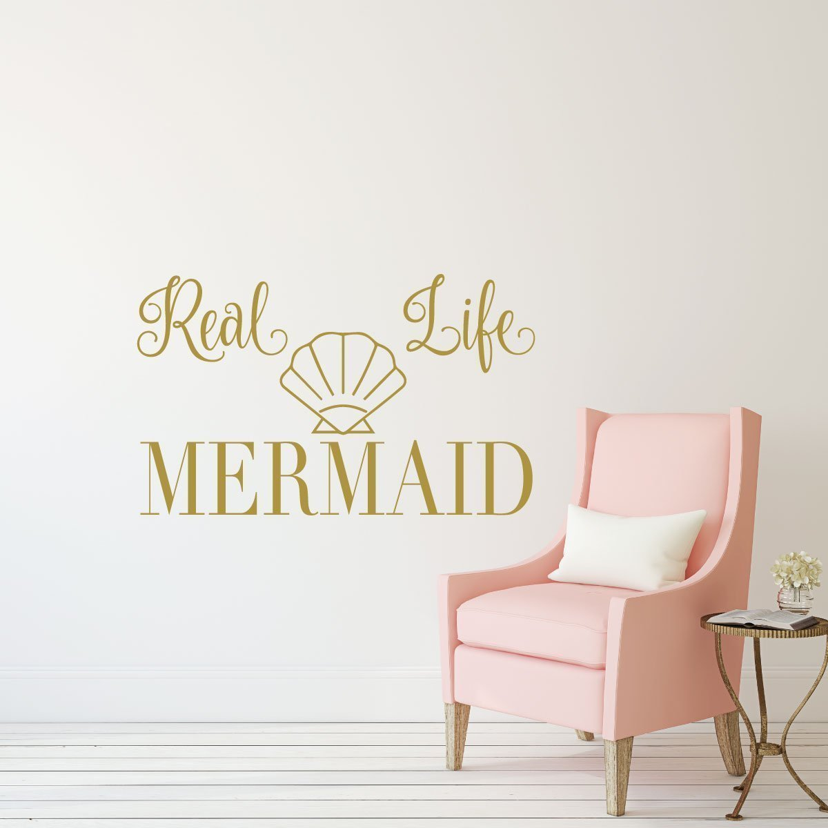 Mermaid Wall Decal With Se Ticker Ocean And Beach Themed Party Decoration Vinyl Wall Decal For Girls Bedroom Childrens Playroom Or Bathroom