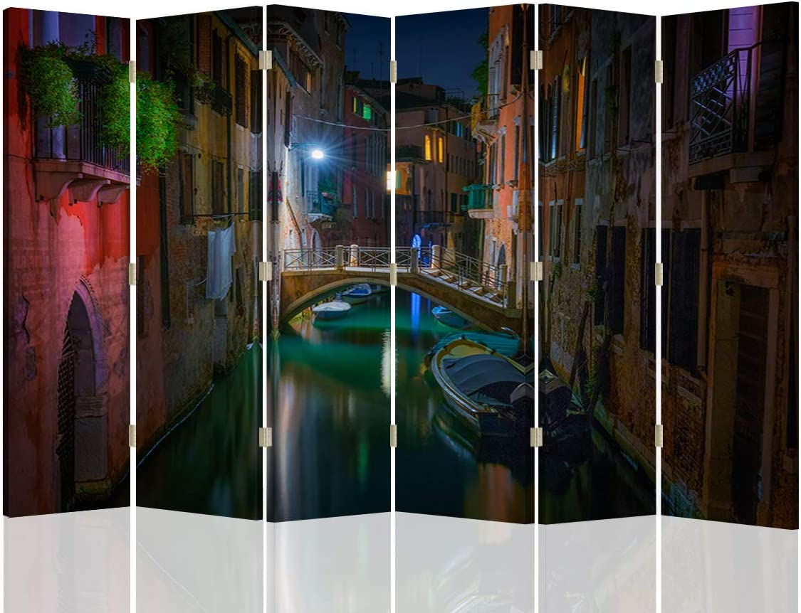 Feeby Biombo Decorativo Venecia 6 Paneles 360° Arquitectura ...