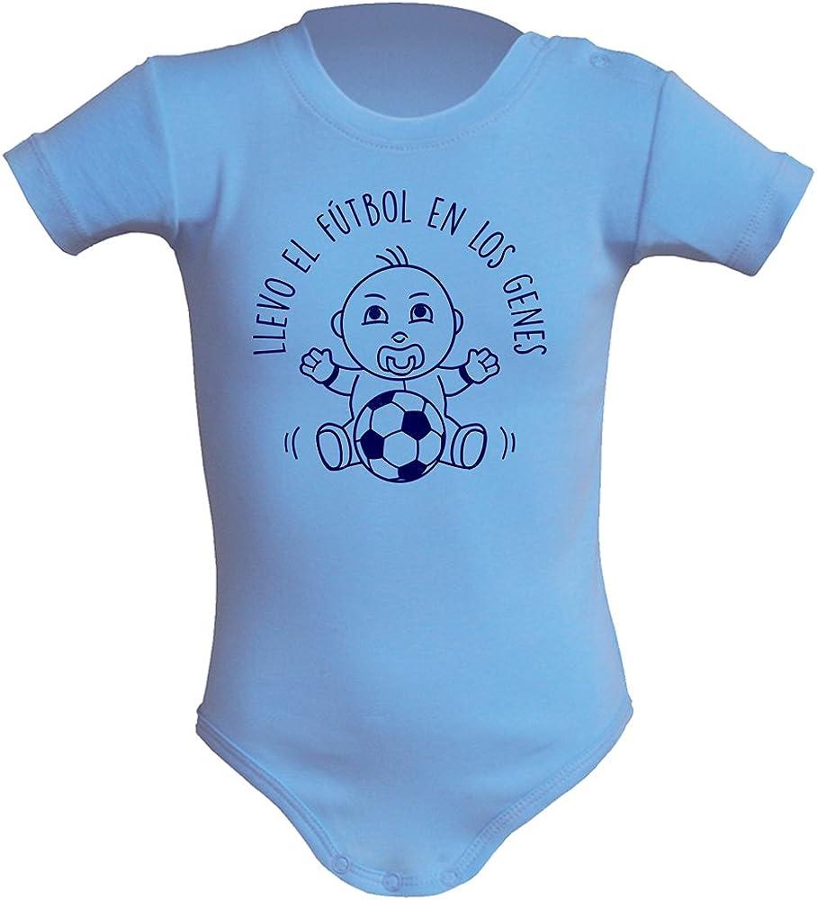 Body bebé unisex Llevo el fútbol en los genes. Regalo original. Body bebé divertido. Bebé deportista. Manga corta