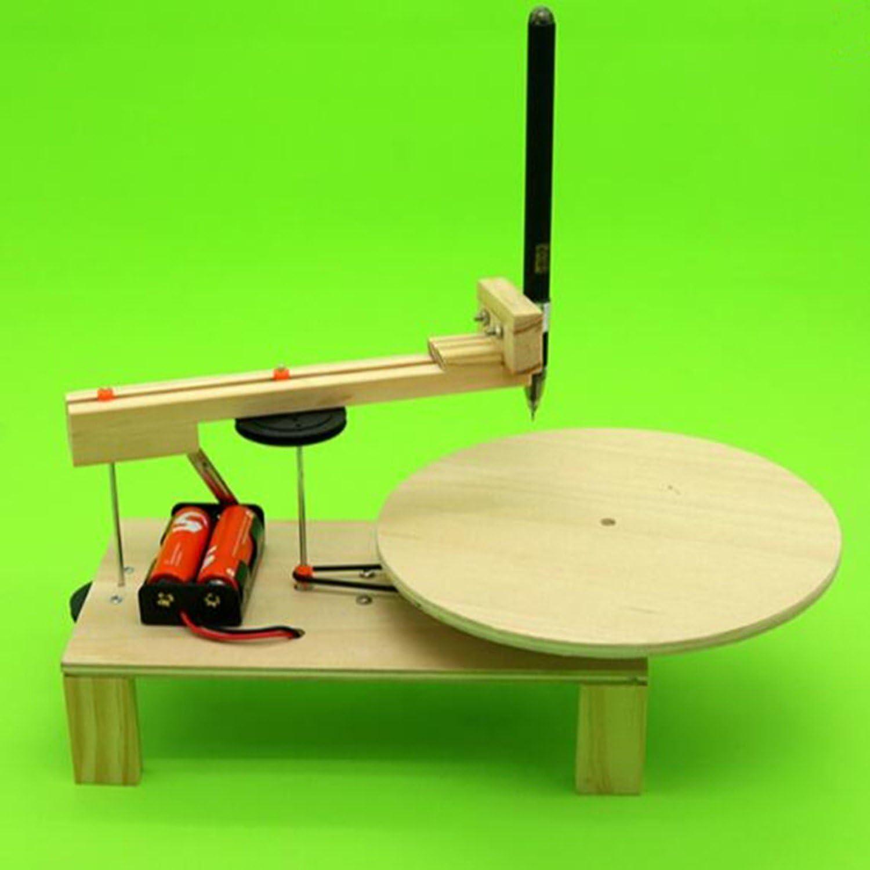 DIY Plotter eléctrico dibujo niño física ciencia experimento material inventos Kit estudiante montado modelo juguete: Amazon.es: Juguetes y juegos