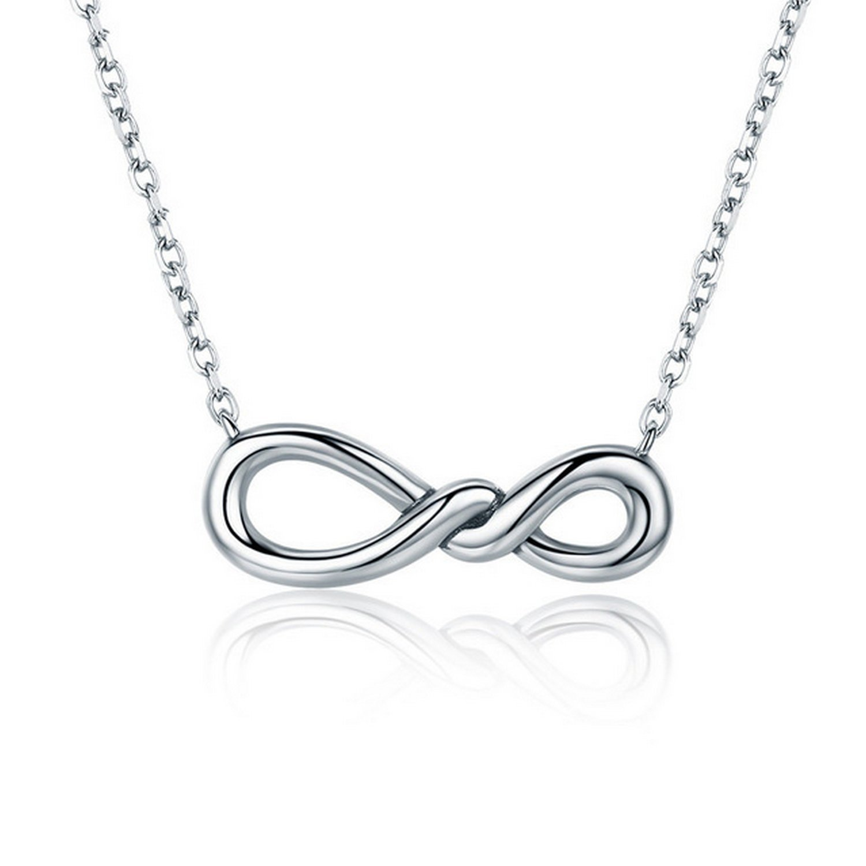 CS-DB Pendants Minimalist Twisting Infinity Silver Necklaces