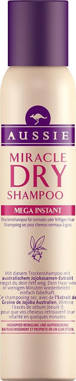 Ancienne version - Aussie - Miracle Mega Instant Shampoing Sec pour Cheveux Normaux à Gras - 180 ml