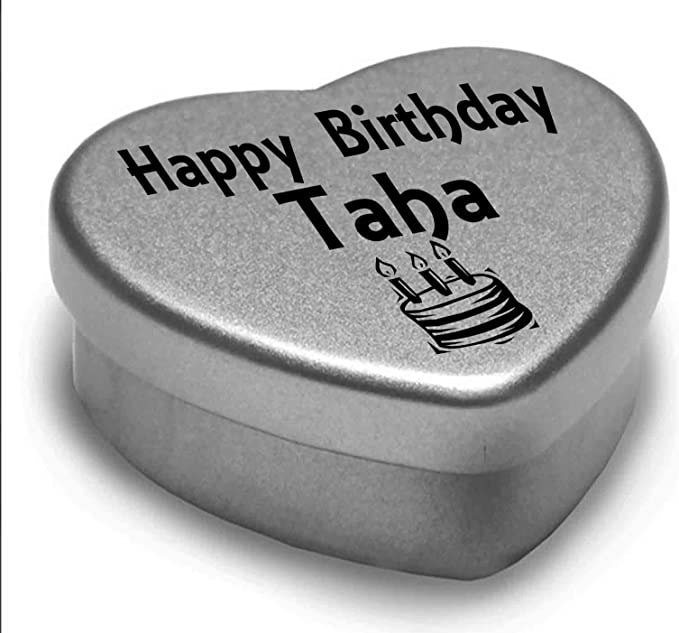 Happy Birthday Muhammad Mini Heart Tin Gift Present For Muhammad WIth Chocolates
