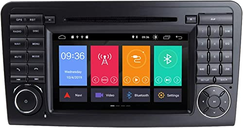 TOOPAI 7 Inch Android 9.0 Car Radio for Mercedes-Benz GL ML CLASS W164 X164 ML300 ML320 ML350 ML450 ML500 ML63 AMG GL320 GL350 GL420 GL450 GL500 Support GPS WiFi Bluetooth Canbus GPS Full RCA OBD DAB