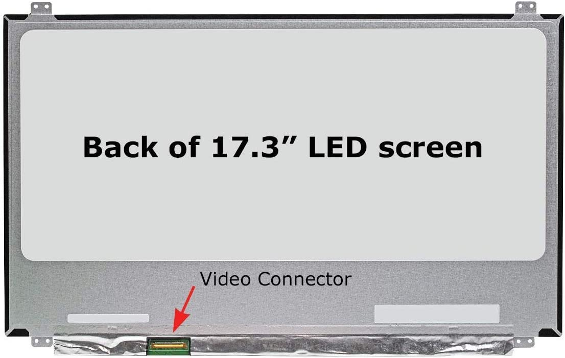Laptop Screen Replacement for B173ZAN01.0, UHD 3840x2160, IPS, Matte, LCD LED Display