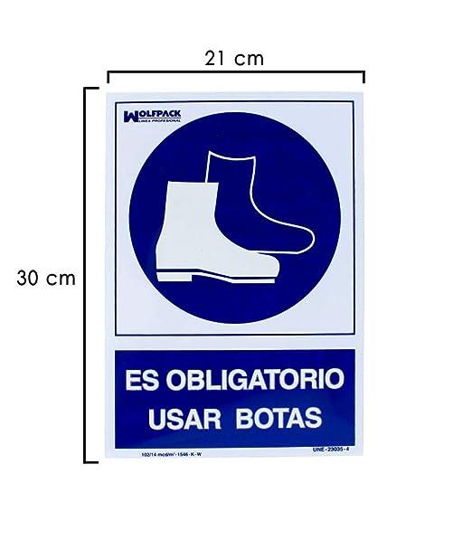 Wolfpack 15050520 Cartel Obligatorio Uso De Botas 30x21 ...