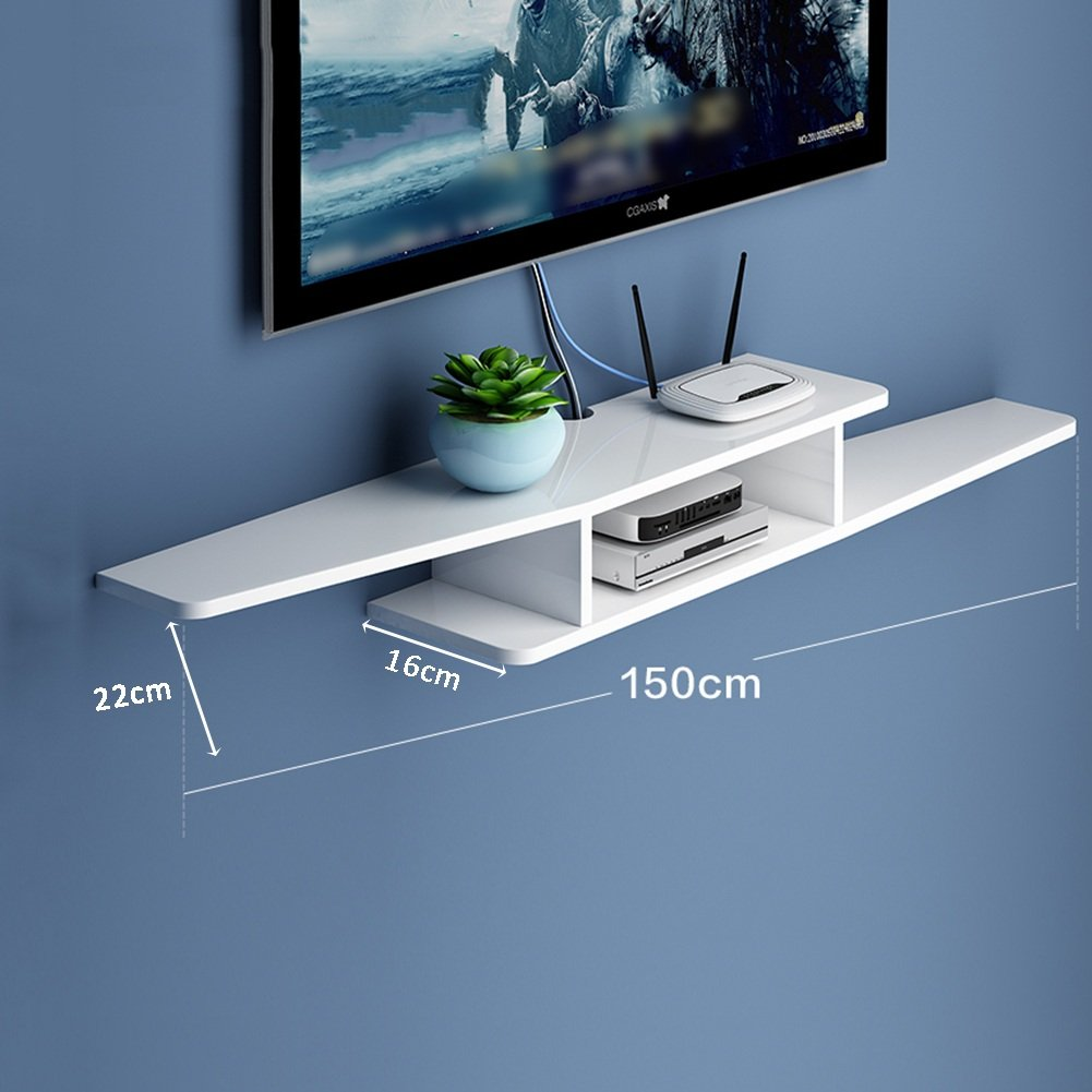 LIANGJUN 壁掛け棚 木製 リビングルーム 背景壁、 使用可能な9種類 ( 色 : 150cm-white-2# ) B07BHNDCD4 22630 150cm-white-2# 150cmwhite2#
