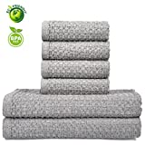 Vanca Cotton Towels Soft Durable Prime Hand Large Shower Bath Beach Kitchen Absorbent Terry Washcloths Gym Hotel Luxury Waffle Kids Towel Sets(Grey)