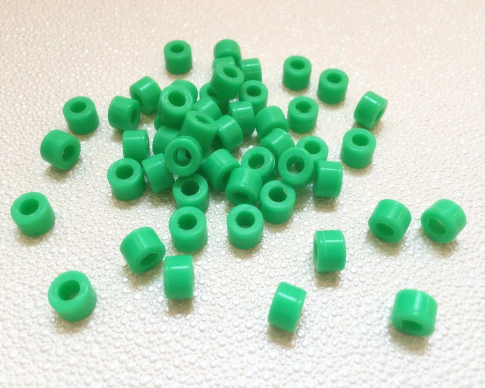 50 Pcs Small Type Dental Hygienist Silicone Instrument Color Code Rings -Green