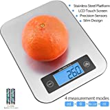 TOBOX Digital Food Scale Electronic Kitchen Scale Stainless Steel Cooking Tool (Batteries Included)
