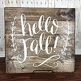 Fall Decorations - Vinyl Wall Decal,''Hello Fall!'', Autumn Art, Fall Home Decor, Autumn Equinox to Winter Solstice
