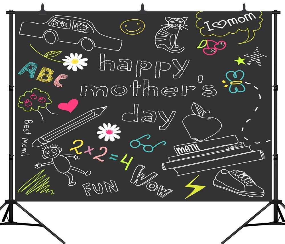 SZZWY 10X8FT(300X240CM) 新学期シーズンテーマ 教室 黒板背景 カスタマイズシームレスビニール写真背景 スタジオ小道具 PGT255C 10X8FT(300X240CM)  B07L5S23N4