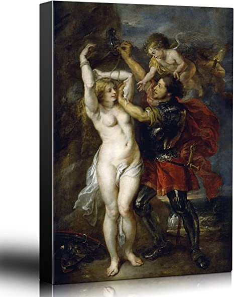 "24x36 Canvas Art Home Decor Wall26 Oil Painting of /""Perseus and Andromeda/"""