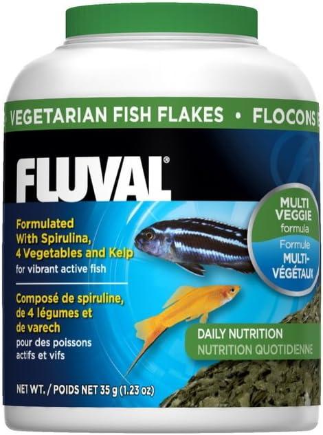 Fluval Hagen 35gm Vegetarian Flakes Fish Food