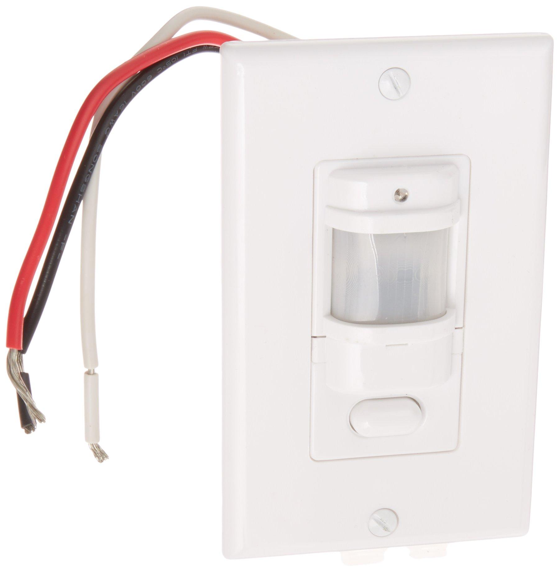 RAB Lighting LOS800W/120 Occupancy Sensor with Decorator Wall Plates, 800W Power, 120V, White