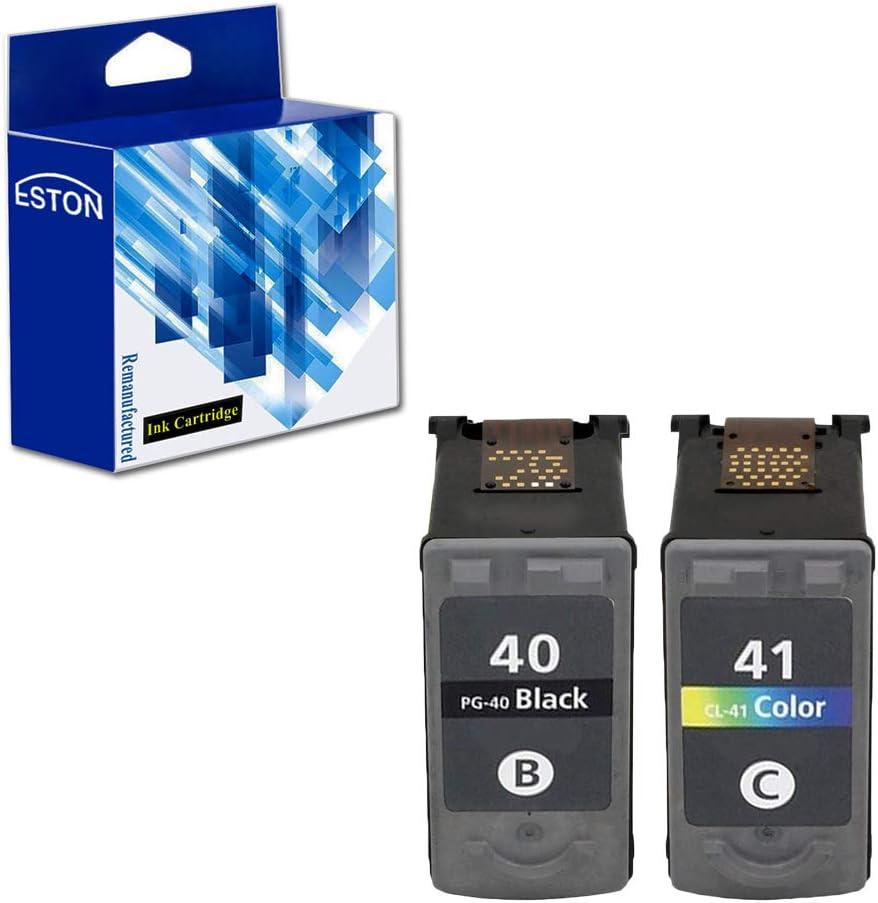Eston Combo Set cartucho de tinta compatible para Canon PG40 CL41/PG-40 CL-41 Fit para Canon Pixma MX300 MX310 iP1600, 2 Pack (1BK/1 C): Amazon.es: Oficina y papelería