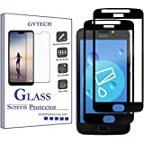 GVTECH for Motorola Moto E4 Screen Protector, Full Coverage Tempered Glass Screen Protector [2.5D Round Edge][9H Hardness][Cr