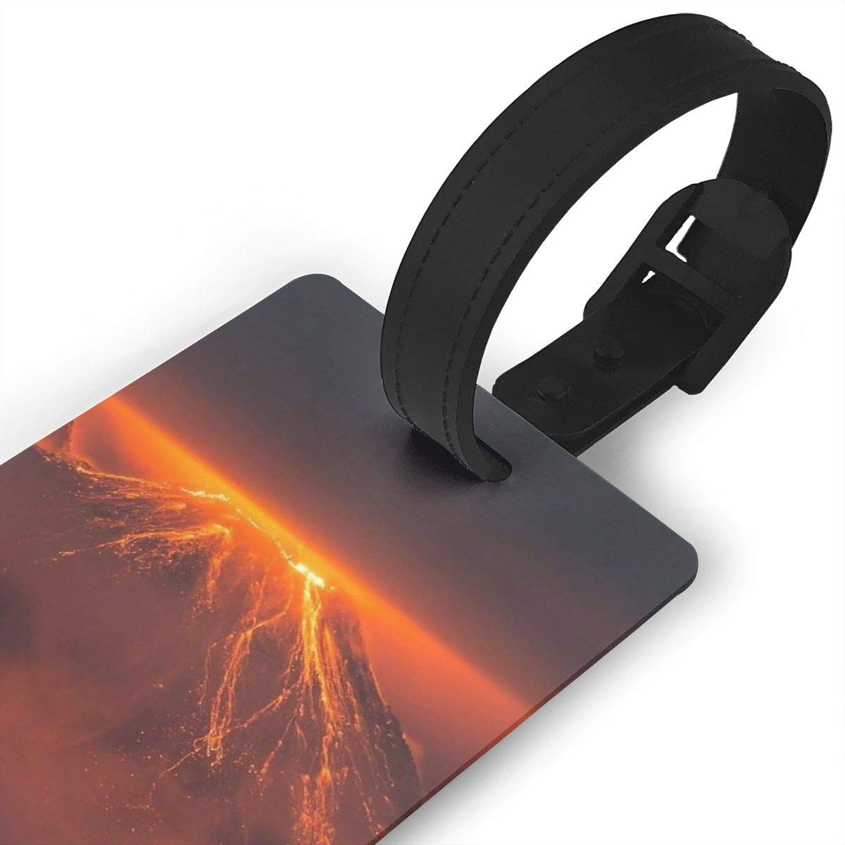 2 Pack Luggage Tags Volcano Erupting Cruise Luggage Tag For Travel Bag Suitcase Accessories