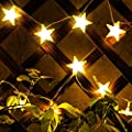 Kohree Star Fairy Lights Battery Operated Star String Lights 30 Led Christmas Lights, Warm White
