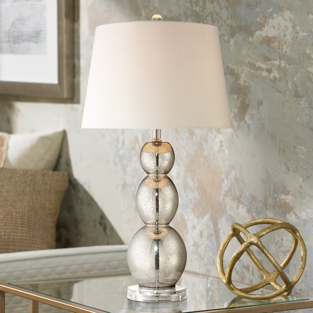 p shade inverted glass cylindar lamp urban upright boulevard lamps with table sage mercury shaped silver shimmer