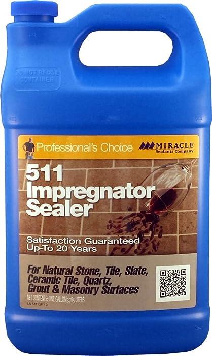 The Best Miracle Sealants 511 Impregnator Penetrating Sealer Gallon