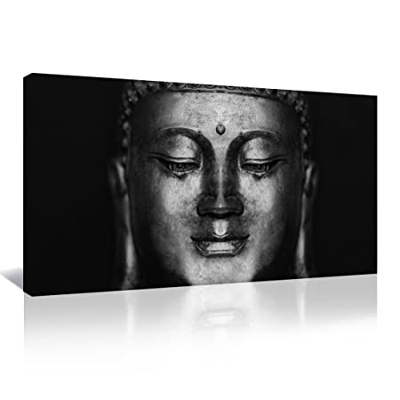 Canvas wall art abstract black and white buddha head modern landscape oil paintings pictures artwork for