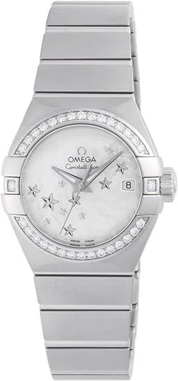 Omega Constellation/reloj mujer/Esfera nácar blanca/caja acero y ...