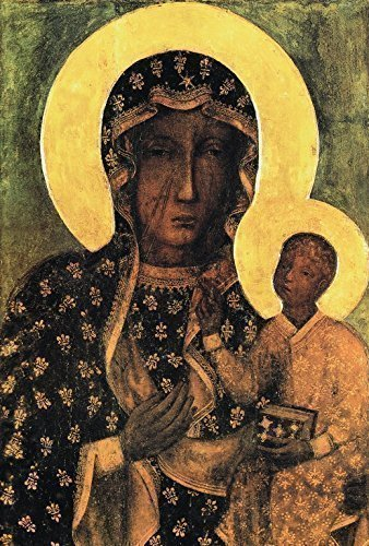 Black Madonna Poland Our Lady of Czestochowa POSTER A2/A3 Polish Madonna print Blessed Holy Mary and Child Jesus Catholic art Religious oil paintings