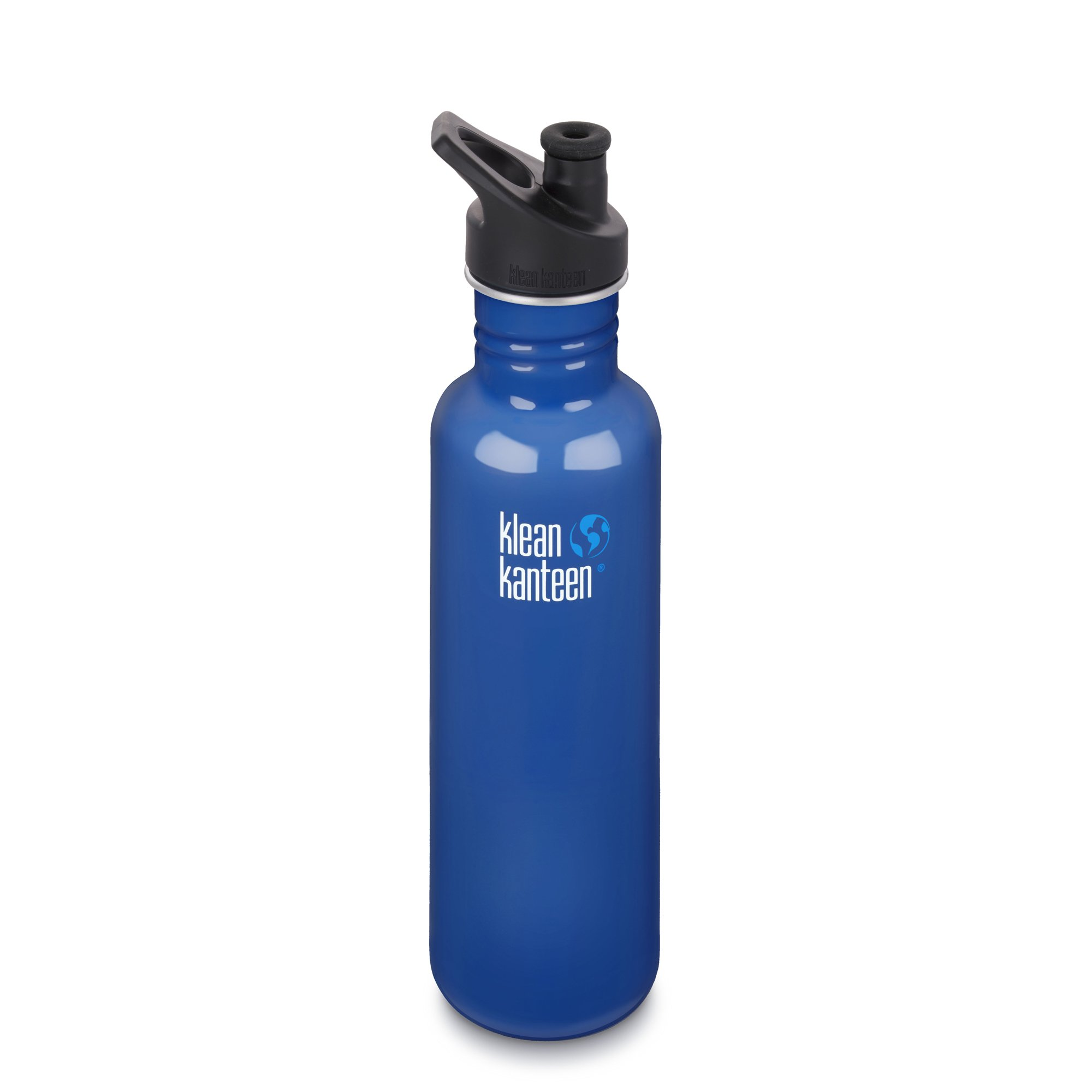 Klean Kanteen Classic Stainless Steel Bottle with Sport Cap, Blue Planet - 40oz