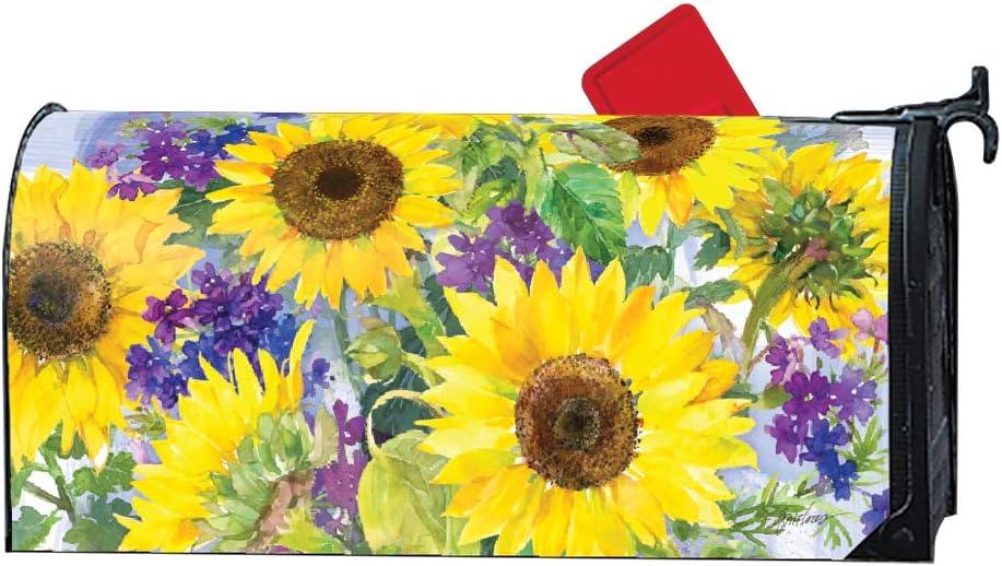 Studio M Sunflower Burst Decorative Magnetic Mailbox Cover