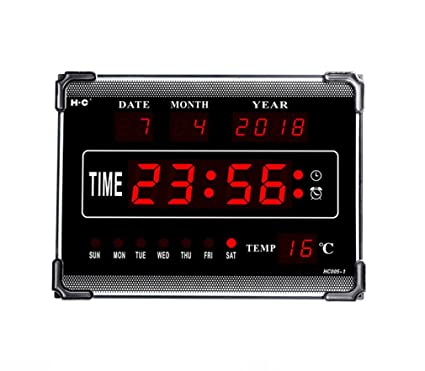 ZHCJH Electronic LED Wall Clock Silent Night Energy Saving Tempered Glass8 Music Alarm Clocks Creative Perpetual