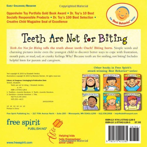 Teeth Are Not for Biting (Board Book) (Best Behavior Series)                         (Board book)