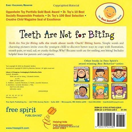 Amazon teeth are not for biting board book best behavior amazon teeth are not for biting board book best behavior series 9781575421285 elizabeth verdick marieka heinlen books fandeluxe Images