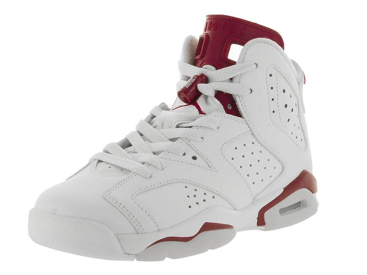 0cdf5a99d949bc AIR JORDAN 6 RETRO OG BG (GS)  MAROON  - 836342-115 - SIZE 6.5   Amazon.co.uk  Shoes   Bags