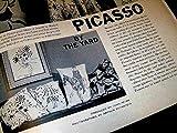 Rare PICASSO 1960's Cafe Picasso Pillow, deep