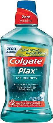 Enxaguante Bucal Colgate Plax Ice Infinity 500ml Promo Leve 500ml Pague 350ml