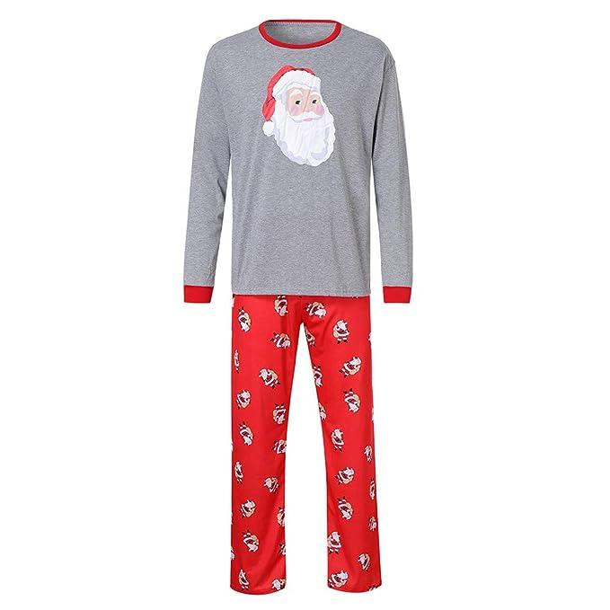 Bestow Hombre Daddy Santa Claus Tops Blusa Pantalones Familia Pijamas Ropa de Dormir Navidad Set Invierno: Amazon.es: Ropa y accesorios