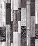 UrbanrArt Artistic Blue-Jean Stacked Distressed Wood Plank Mural Wallpaper Vinyl Raised Textured Embossed Tactile Wallcoverings 171105