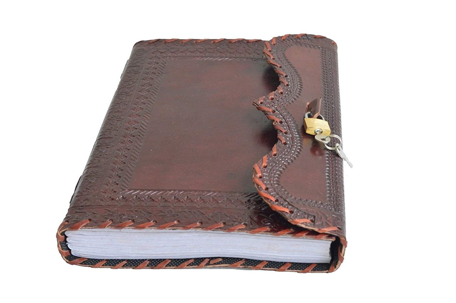 Amazon.com : Genuine Leather Journal Vintage Antique Style ...