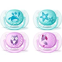 Philips Avent Ultra Soft Soother, 0-6 Months, 2-Pack (Assorted Colours) - SCF220/21