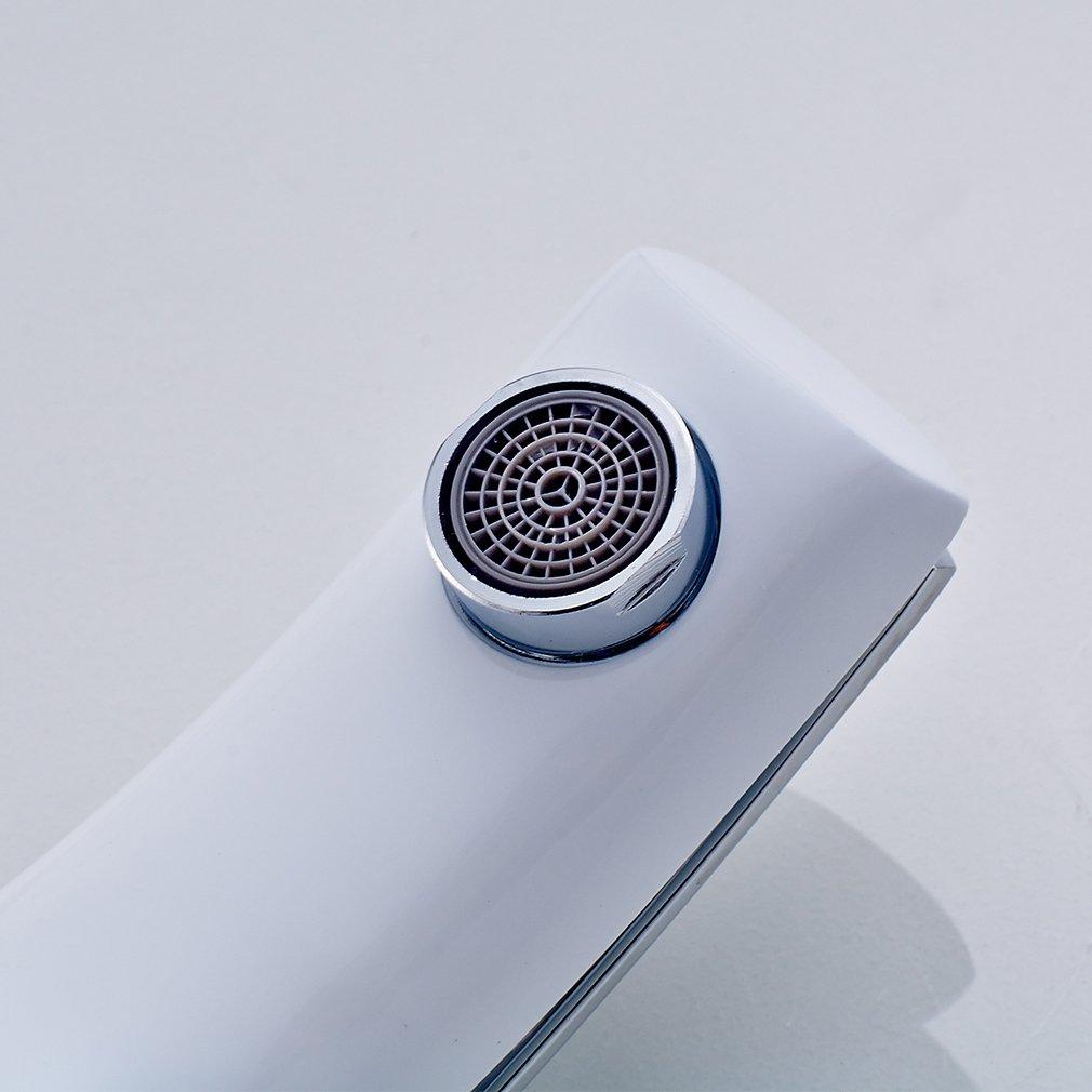 AuraLum® Design Weiß Bad & WC Waschtischarmatur Wasserhahn ...