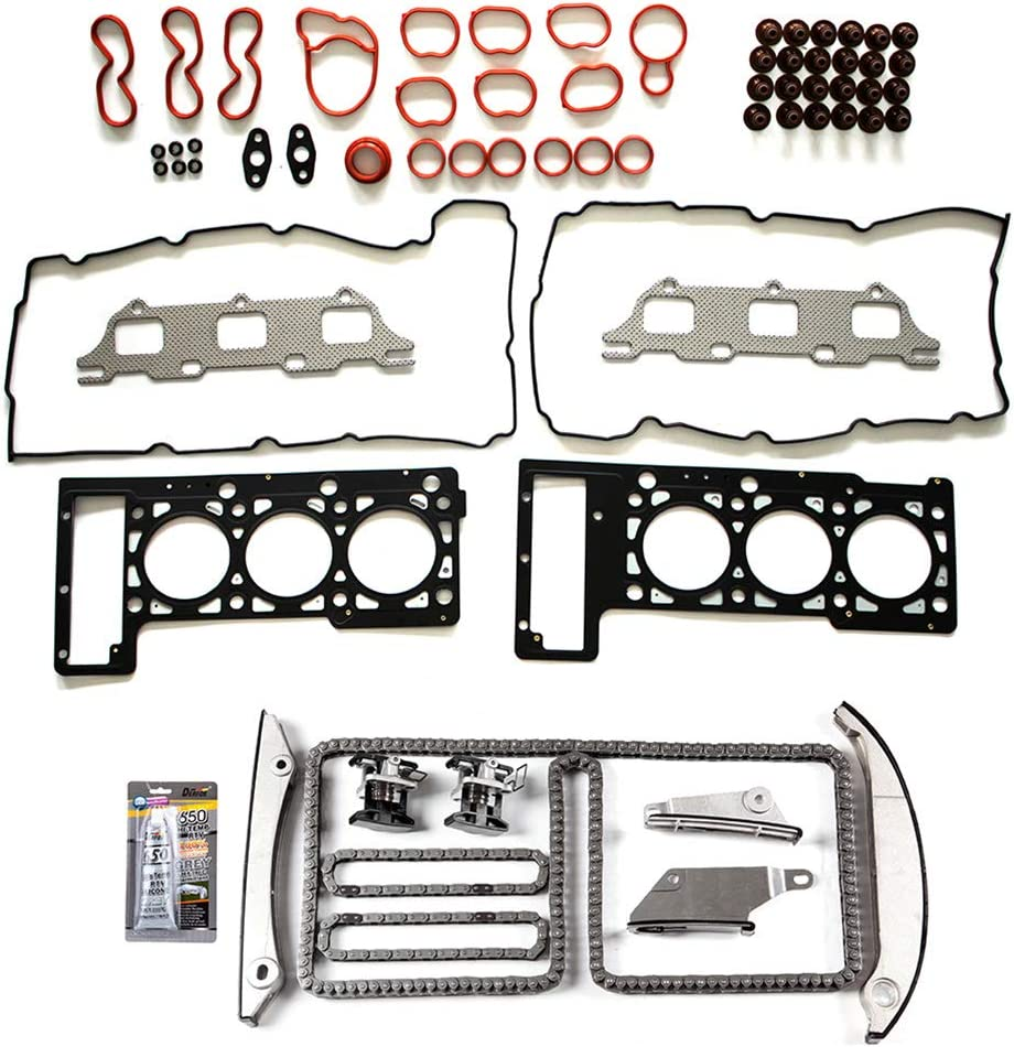 BCtimingparts Timing Chain Kit Head Gasket Set fits for 2001-2004 Intrepid 2005-2007 300 Stratus 2.7L
