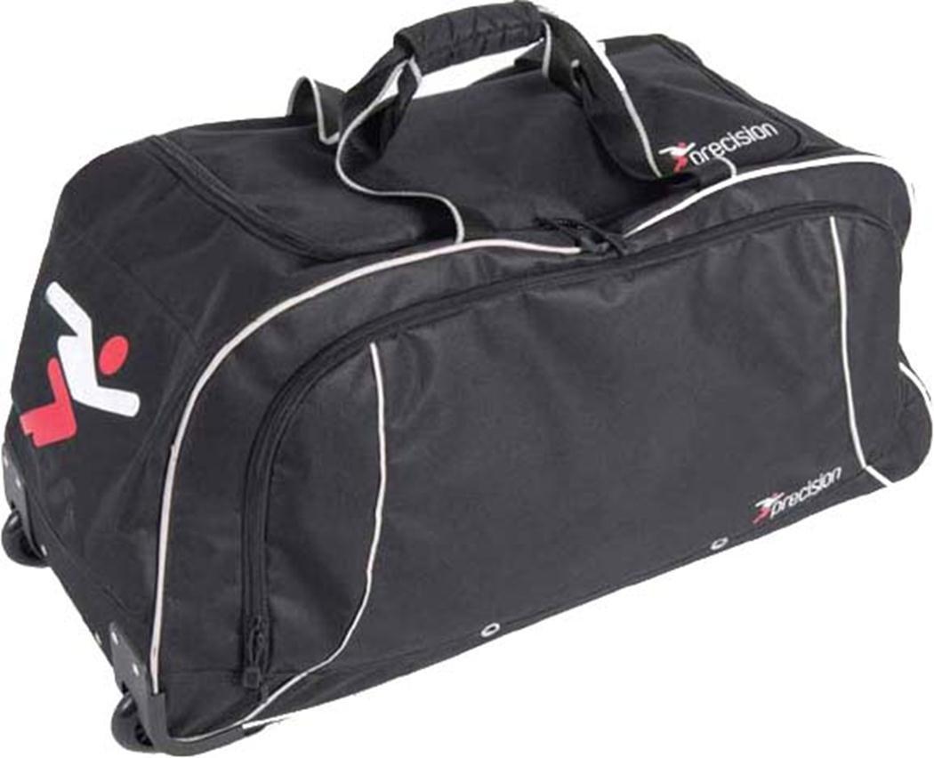PrecisionトレーニングサッカースポーツHoldall Luggage Wheeled Trolleyチームキットバッグ B01H8075VQブラック/シルバー
