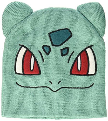 Bioworld Pokémon Bulbasaur Knit Beanie Cap Hat teal One Size ()